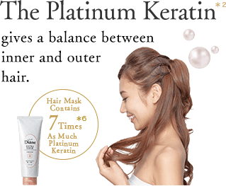 The Platinum Keratin gives a balance between inner and outer hair.