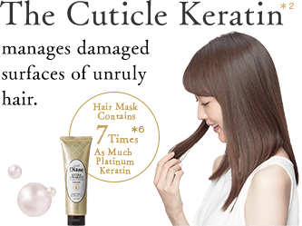 The Cuticle Keratin manages damaged surfaces of unruly hair.
